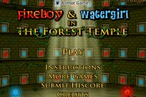 Fireboy and Watergirl 1 in The Forest Temple Title Screen
