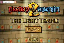 Fireboy and Watergirl 2 in The Light Temple Title Screen