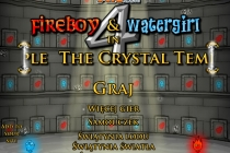 Fireboy and Watergirl 4 in The Crystal Temple Title Screen